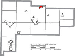 Location of Cridersville in Auglaize County