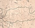 Map of Bhutan detail, from- 1903 Routes between Tibet and India by O'Connor (cropped).jpg