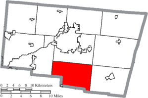 Green Township, Clark County, Ohio - Image: Map of Clark County Ohio Highlighting Green Township