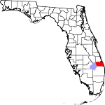State map highlighting Martin County