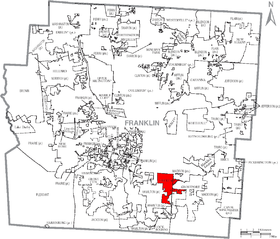 Map of Franklin County Ohio With Obetz labeled.png