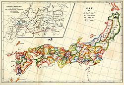 Map of Japan in Provinces in time of Iyeyasu.jpg