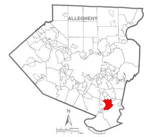 Map of Lincoln, Allegheny County, Pennsylvania Highlighted.png