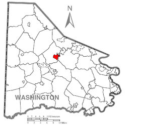 Map of McGovern, Washington County, Pennsylvania Highlighted.png