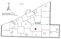 Map of Waterford, Erie County, Pennsylvania Highlighted.png