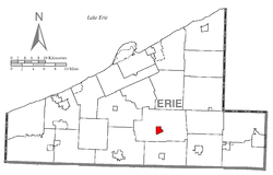 Location of Waterford in Erie County
