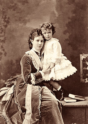 Nicholas II of Russia - Nicholas II as a child with his mother, Maria Feodorovna, in 1870