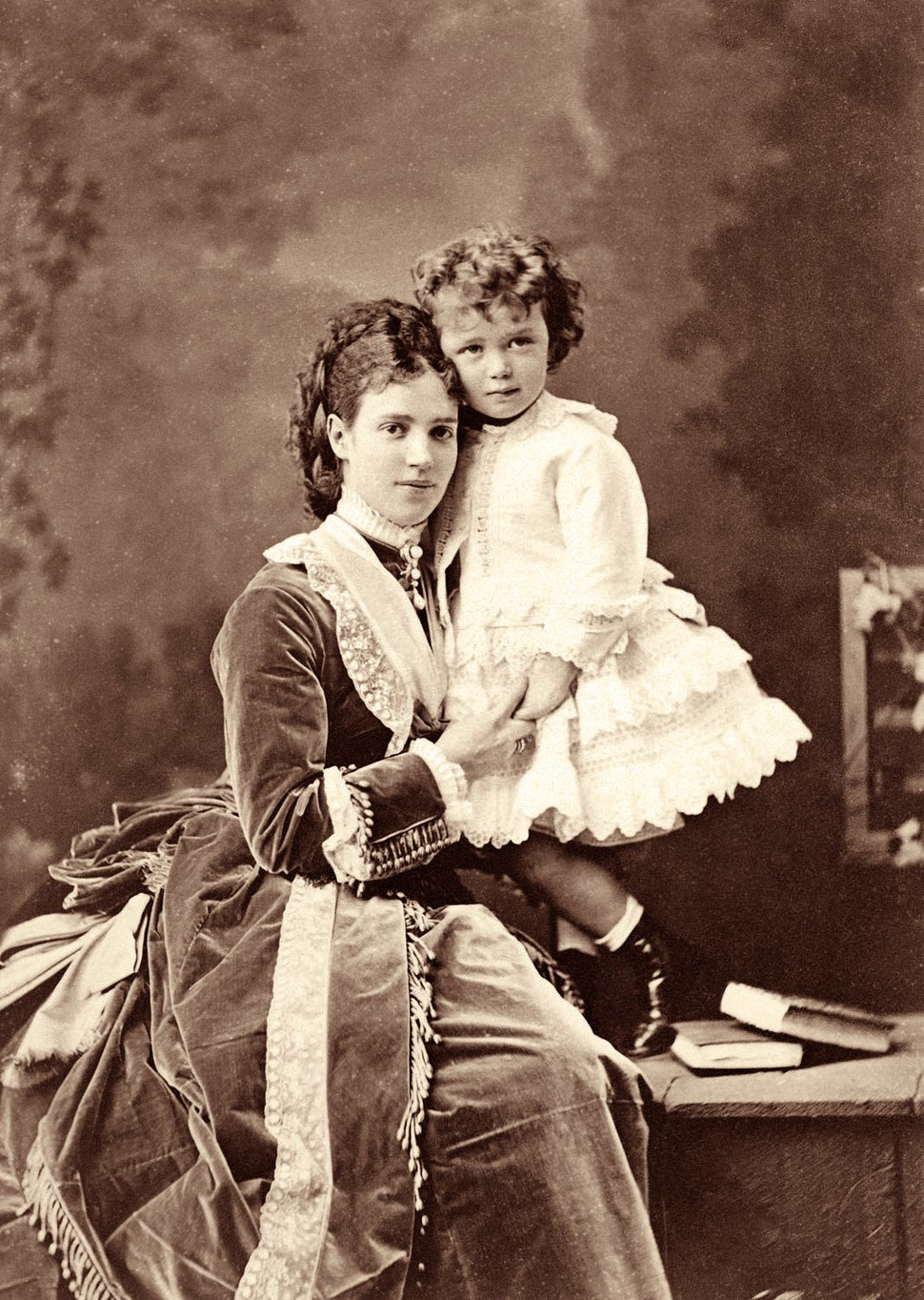 Maria Fyodorovna and her son Niki