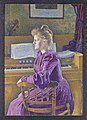 Maria Sèthe, de latere mevrouw Henry Van de Velde, Theo Van Rysselberghe, 1891, Koninklijk Museum voor Schone Kunsten Antwerpen, 2690.jpg