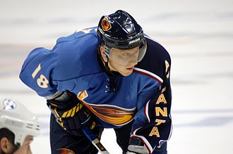 Marián Hossa - Hossa while a member of the Atlanta Thrashers in 2007