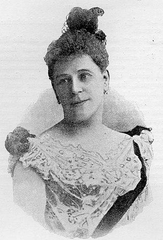 Marie Lehmann (soprano) - Image: Marie Lehmann A Ehrlich Sängerinnen 1895