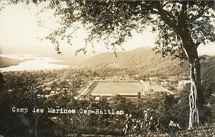 Marine's base at Cap-Haitien Marines' base in Cap-Haitien.jpg