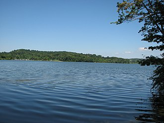 Marsh Creek State Park - Looking across Marsh Creek Lake towards the West Launch Area