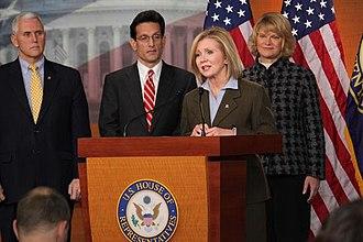Marsha Blackburn - Marsha Blackburn with Eric Cantor, Mike Pence and Cynthia Lummis at Press Conference