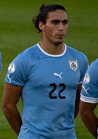 Martín Cáceres against Chile.jpg