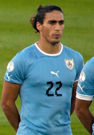 Martín Cáceres - Cáceres lining up for Uruguay in 2011