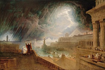 John Martin's painting of the plague of hail a...