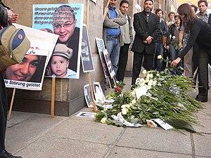 Murder of Marwa El-Sherbini - Image: Marwa el Sherbini. funereal meeting of dresden germany