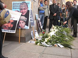 Murder of Marwa El-Sherbini - Image: Marwa el Sherbini. funereal meeting of dresden germany