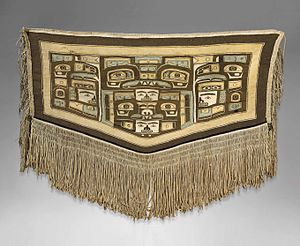 Chilkat weaving - Image: Mary Ebbets Hunt Chilkat blanket