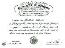 Pritilata waddedar wikipedia matriculation examination certificate of pritilata yadclub Choice Image