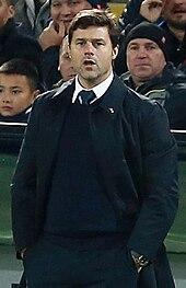 Mauricio Pochettino coaching Tottenham Hotspur FC in a game against PFC CSKA Moscow.