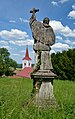 Mausoleum Althan, Murstetten - statue of Charles Borromeo.jpg