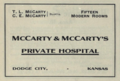 """McCarty & McCarty's Private Hospital (""""American medical directory"""", 1906 advert).png"""