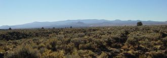 Medicine Lake Volcano - Medicine Lake volcano as seen from Lava Beds National Monument