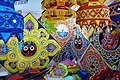Medieval era abstract iconography of Jagannath on towels and clothing in India.jpg