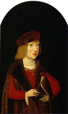 Kinderportrait des siebenjährigen Karl (Gemälde des Meisters von der Magdalenen-Legende um 1507) (Quelle: Wikimedia)