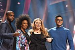 Melodifestivalen 2019, deltävling 1, Scandinavium, Göteborg, programledarna, 1.jpg