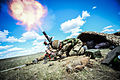 Members of the Royal Welsh Battle Group mortar platoon live firing on BATUS training area, Alberta Canada. MOD 45158849.jpg