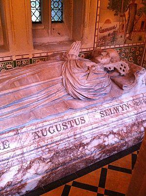 George Selwyn (bishop of Lichfield) - Memorial to Selwyn in Lichfield Cathedral