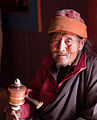 Mendicant in Upper Pisang gompa (4518934918).jpg