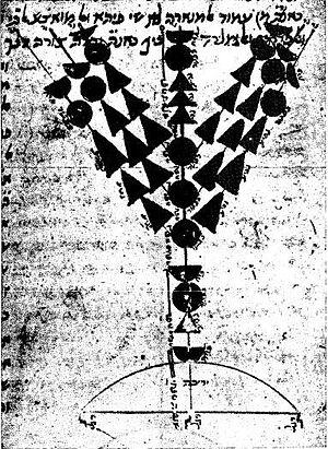Menorah (Temple) - Maimonides' drawing of the menorah.