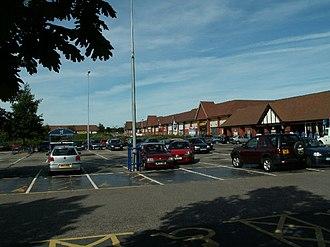 Meole Brace - Meole Brace retail park is a major feature of the area.
