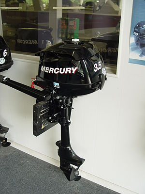 Mercury Marine - A 2007, 3.5 horse power Mercury engine.