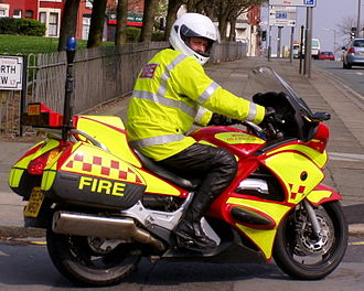Motorcycles in the United Kingdom fire services - The Merseyside alarm response fire bike