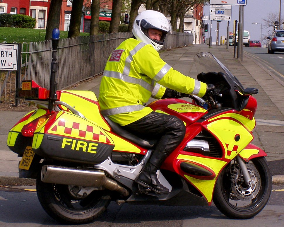 Merseyside Fire and Rescue Motorbike