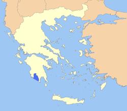 Χάρτης της ελλάδας με σημειωμένο τον