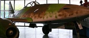 Jagdgeschwader 7 - The NASM's Me 262A displaying JG 7's Windhund (Sighthound) emblem