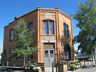 Meeteetse, Wyoming - The First National Bank of Meeteetse, built in 1901