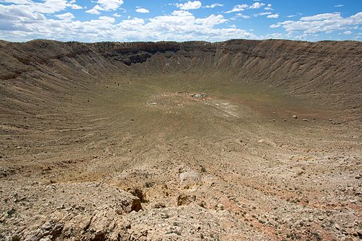 Meteor Crater from the lower deck