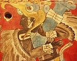 Mexico - Museo de antropologia - Pinturas murales détail.JPG