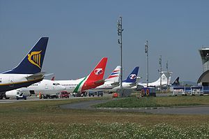 Brno–Tuřany Airport - Apron view