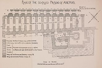 Prison of Anemas - Sketch plan of the layout of the Anemas Prison by Alexander van Millingen.