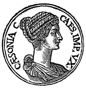 """Milonia Caesonia - Milonia Caesonia from """"Promptuarii Iconum Insigniorum"""""""