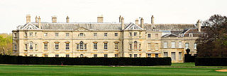 Milton Hall country house in Cambridgeshire, England, the historical home of the Fitzwilliam family
