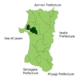 Minamiakita District in Akita Prefecture.png